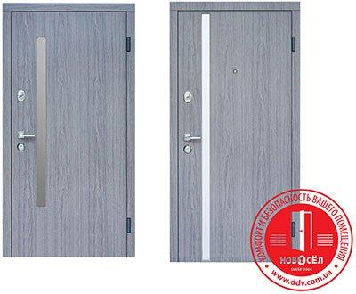 Двери Steelguard модель AV-1 Gray (Gray Glass) Vinorit