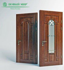 модельный ряд входных дверей из массива дуба и ясеня