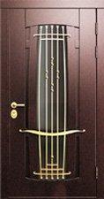 Входные двери металло-филенчатые со стеклом